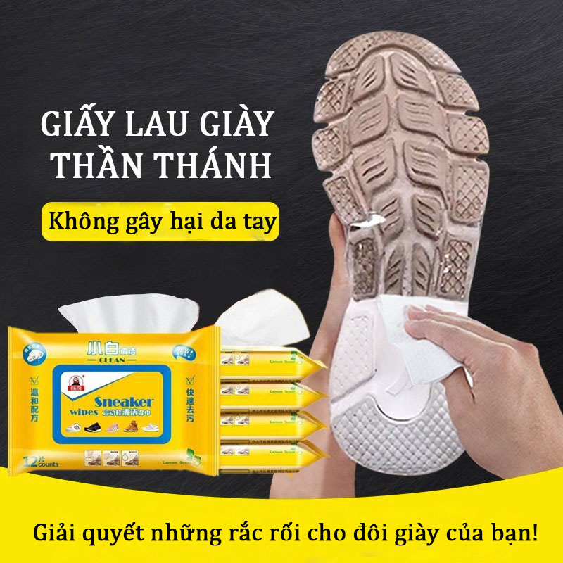 Giấy lau giày thần thánh Sneaker, 1 TÚI 30 TỜ (UC-1CCD-2)