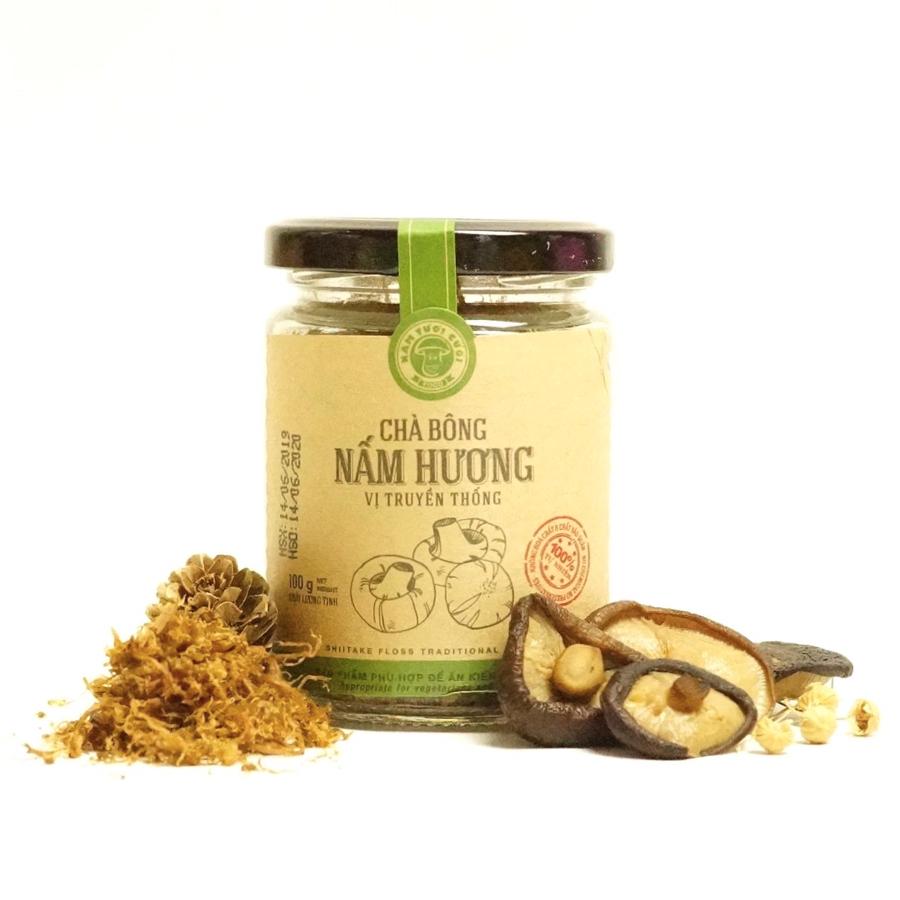 Chà bông nấm hương Nấm Tươi Cười (vị truyền thống, 100g) - Phù hợp ăn chay và bổ dưỡng cho sức khoẻ