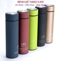 Bình giữ nhiệt chất lượng cao siêu bền đẹp ruột inox LIFE