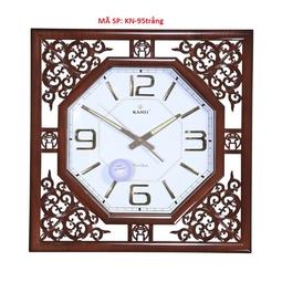 đồng hồ treo tường hoa văn tròn. - mã đồng hồ: KN- 95 trắng - kích cỡ: #D50xC50cm