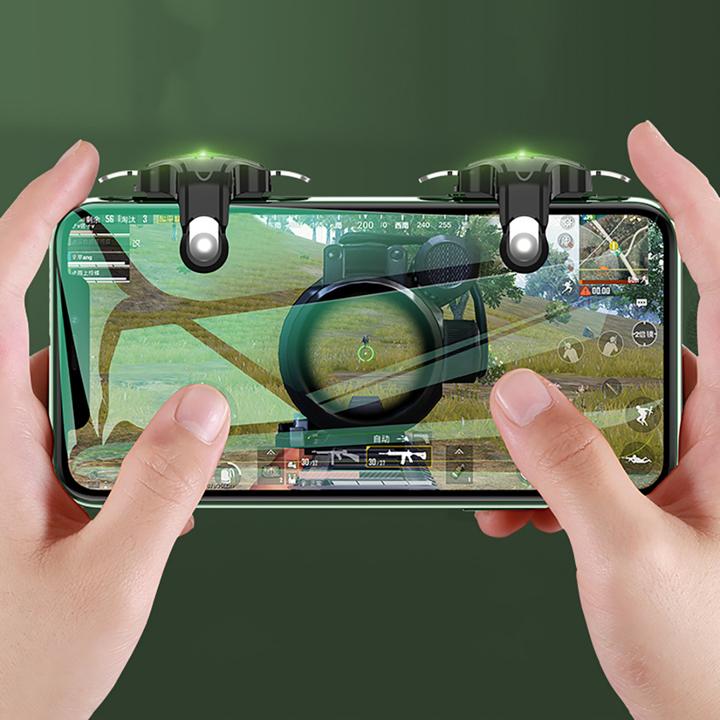 Bộ 2 nút bấm chơi game HX thế hệ mới chơi PUBG ROS trên điện thoại thông minh Trắng