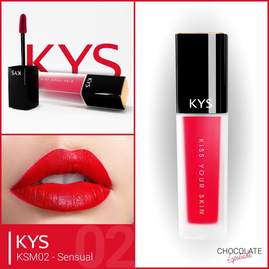 Son Chocolate Matte Liquid Lipstick – SENSUAL ĐỎ LẠNH