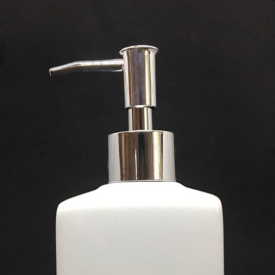 Combo 5 bình đựng dầu gội sữa tắm bằng sứ cao cấp hình chữ nhật men trắng