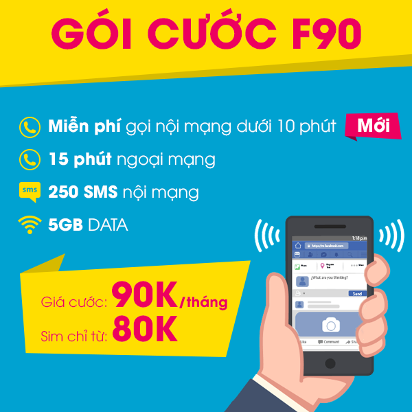 Sim 4G Viettel Miễn Phí gọi nội mạng dưới 10 phút Tặng 5GB Tháng