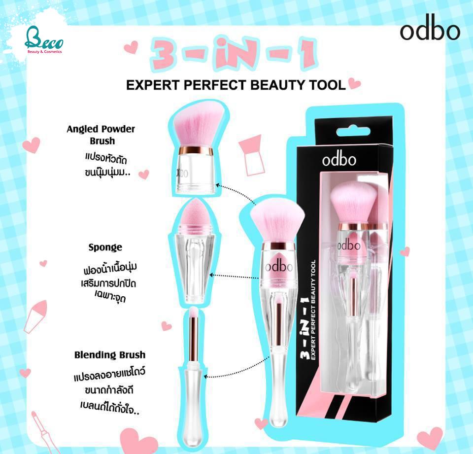 Cọ Trang Điểm Đa Năng Odbo 3-in-1 Expert Perfect Beauty Tool