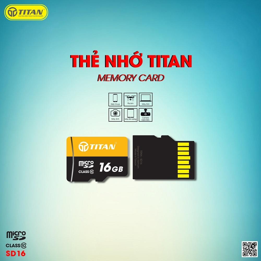 Thẻ nhớ 16Gb Chính Hãng Titan SD16 - Bảo hành 5 năm