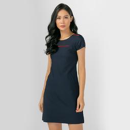 Đầm Suông Công Sở Thời Trang Eden Phối Viền - D306 - Màu xanh đen