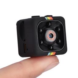 Camera Hành Trình Siêu Nhỏ Quay Đêm Hồng Ngoại Tầm Nhìn Xa Phân Giải Cao SQ11 Full HD 1080 12M - Đen
