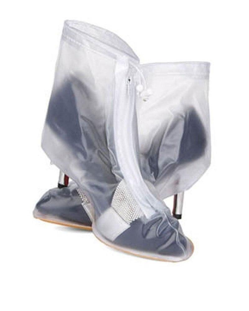 Bao Giày Đi Mưa - Áo Mưa Giày Dép Thời Trang Bằng Cao Su – 100% Khô Ráo Dù Mưa Bão Màu Xanh