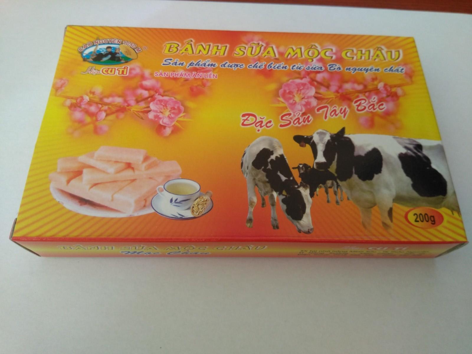Bánh sữa Mộc Châu vàng 200g (hiệu Cu Tỉ)