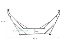 Khung võng xếp Inox Duy Lợi cỡ lớn (không lưới)