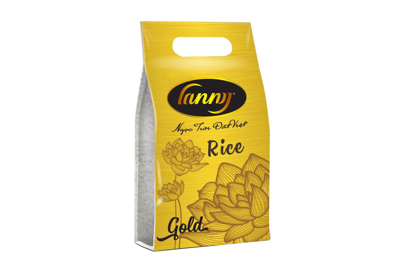 Gạo Lanny Gold Túi 5 kg - Mua 1 tặng 1