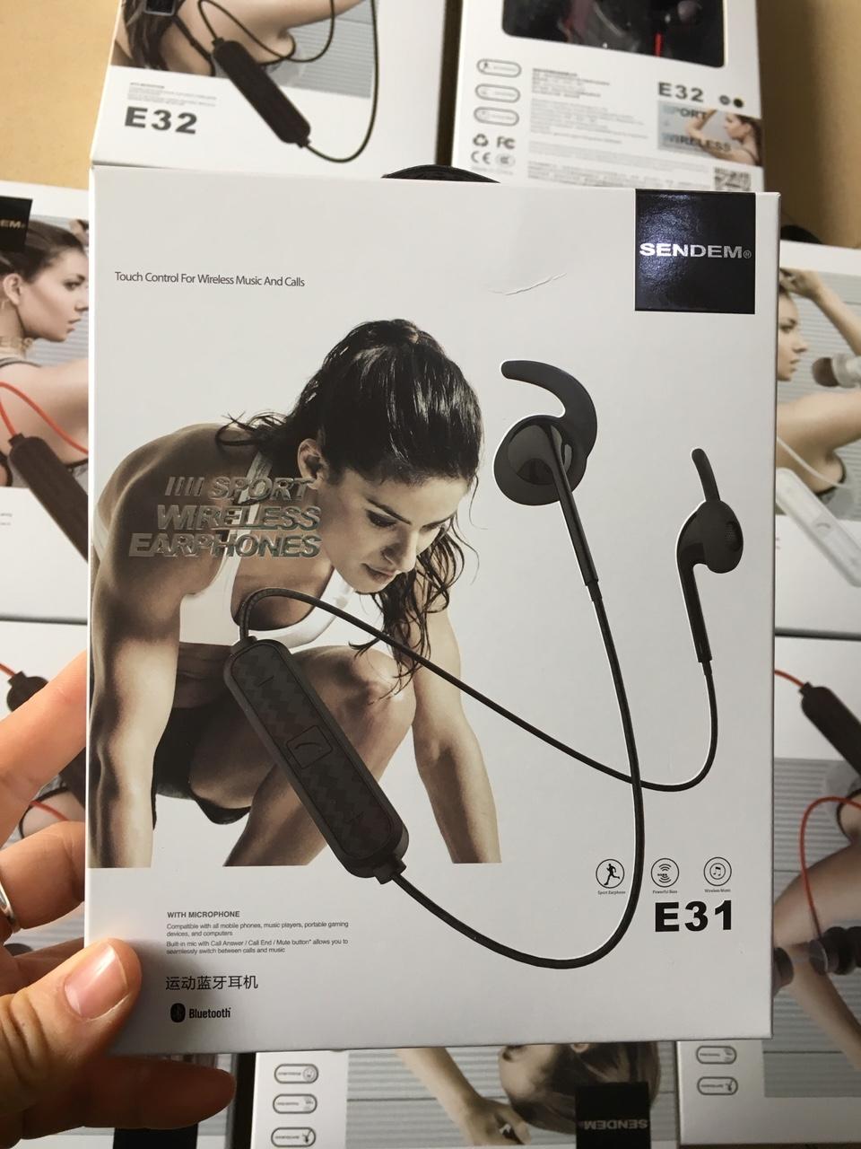 Tai Nghe thể thao kim loại Bluetooth SENDEM E31 - chống nước - cách âm tốt