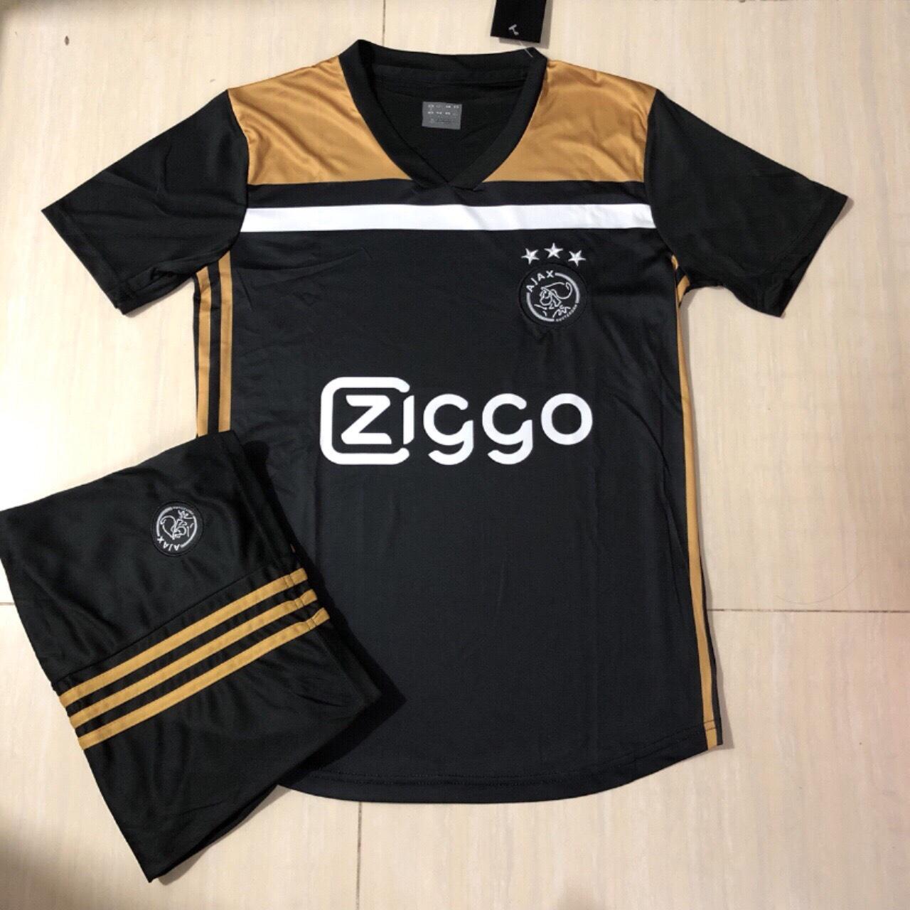 Bộ Quần Áo Bóng Đá Ajax Amsterdam Mới Nhất 2019 Màu Đen