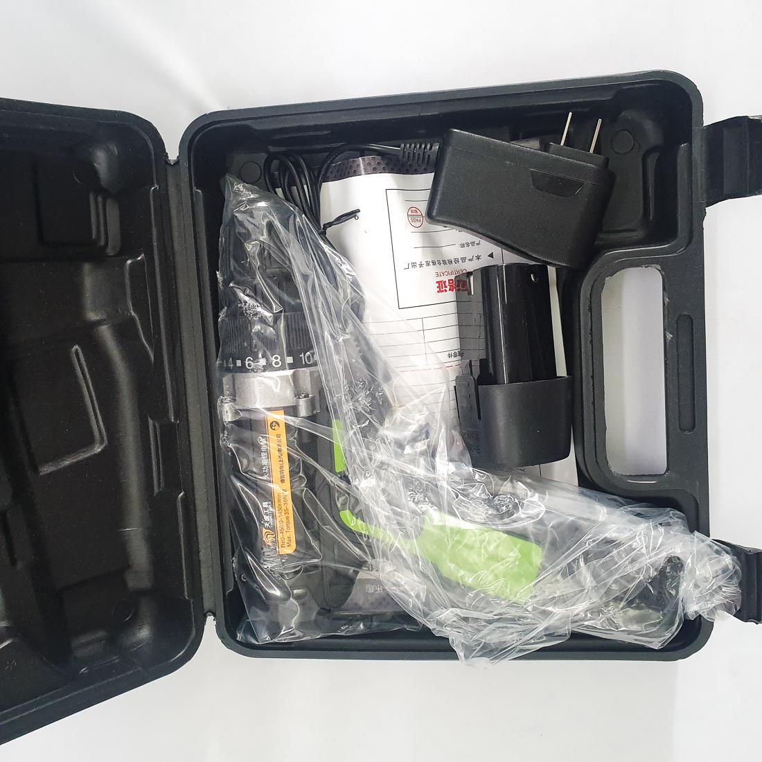 Máy Khoan Dùng Pin Tianhu Tools Máy Khoan Máy Khoan Bắn Vit Máy Khoan Cầm Tay Máy Khoan Sửa Chữa Vặn Vít Có Đảo Chiều (Kèm Pin Dự Phòng) - Màu đỏ 18V