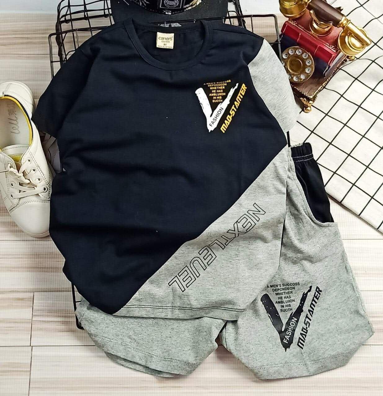 Bộ quần Áo thun kiểu dáng thể thao năng động dành cho bé trai siêu cute ( SIZE 10 tuổi - 15 tuổi. )
