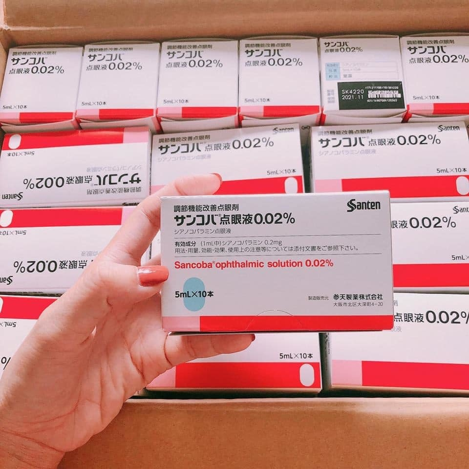 Thuốc Nhỏ Mắt Phục Hồi Thị Lực Sancoba Nội Địa Nhật