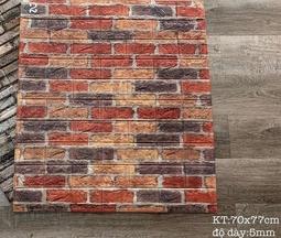 Combo 10 tấm xốp dán tường giả gạch đỏ