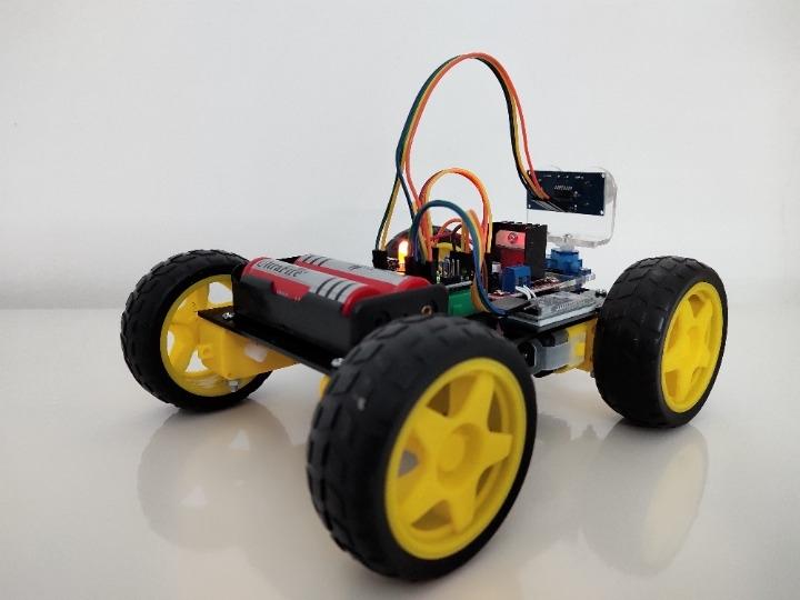 Combo Xe điều khiển Bluetooth + Tránh vật cản - Loại 4 bánh - Kèm tài liệu học tập