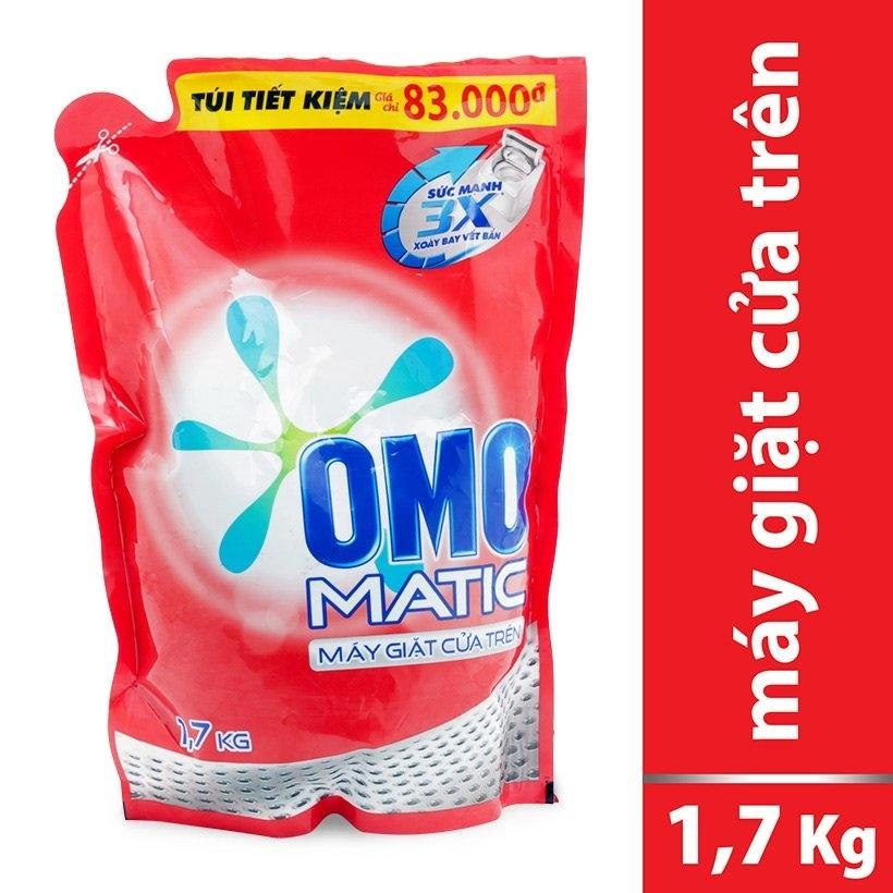 Combo OMO nước giặt máy cửa trên túi 1,7kg + SUNLIGHT Nước rửa chén Chanh 400g ( Tặng 01 Xà bông lifebuoy 90g)