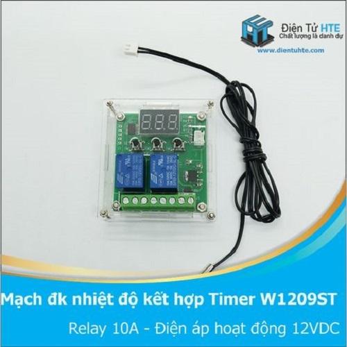 Mạch điều khiển nhiệt độ có Timer tuần hoàn W1209ST