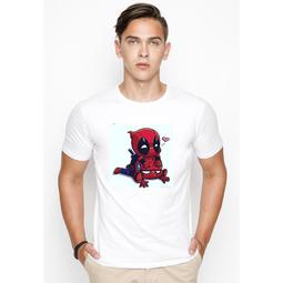 Áo thun nam nữ tay ngắn in hình Marvel, In áo theo yêu cầu (Trắng)