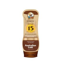 Kem chống nắng & nhuộm da nâu Australian Gold Sunscreen Lotion with Kona Coffee Infused Bronzer 237ml (Mỹ)