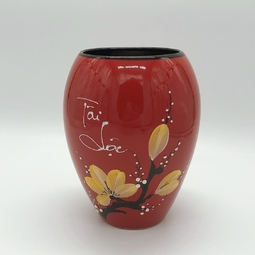Lọ cắm hoa (dáng thấp) màu đỏ H17 - mẫu ngẫu nhiên/inbox chọn màu