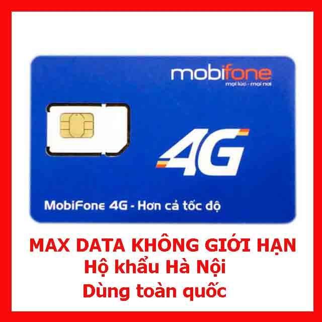 Sim 4G Mobifone VP51 - VPB51 Không Giới Hạn Tốc Độ Cao Chỉ 100.000 đ/ Tháng (Hộ khẩu Hà Nội)