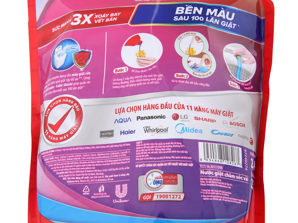 Nước giặt Omo Matic bền đẹp túi 2.3kg
