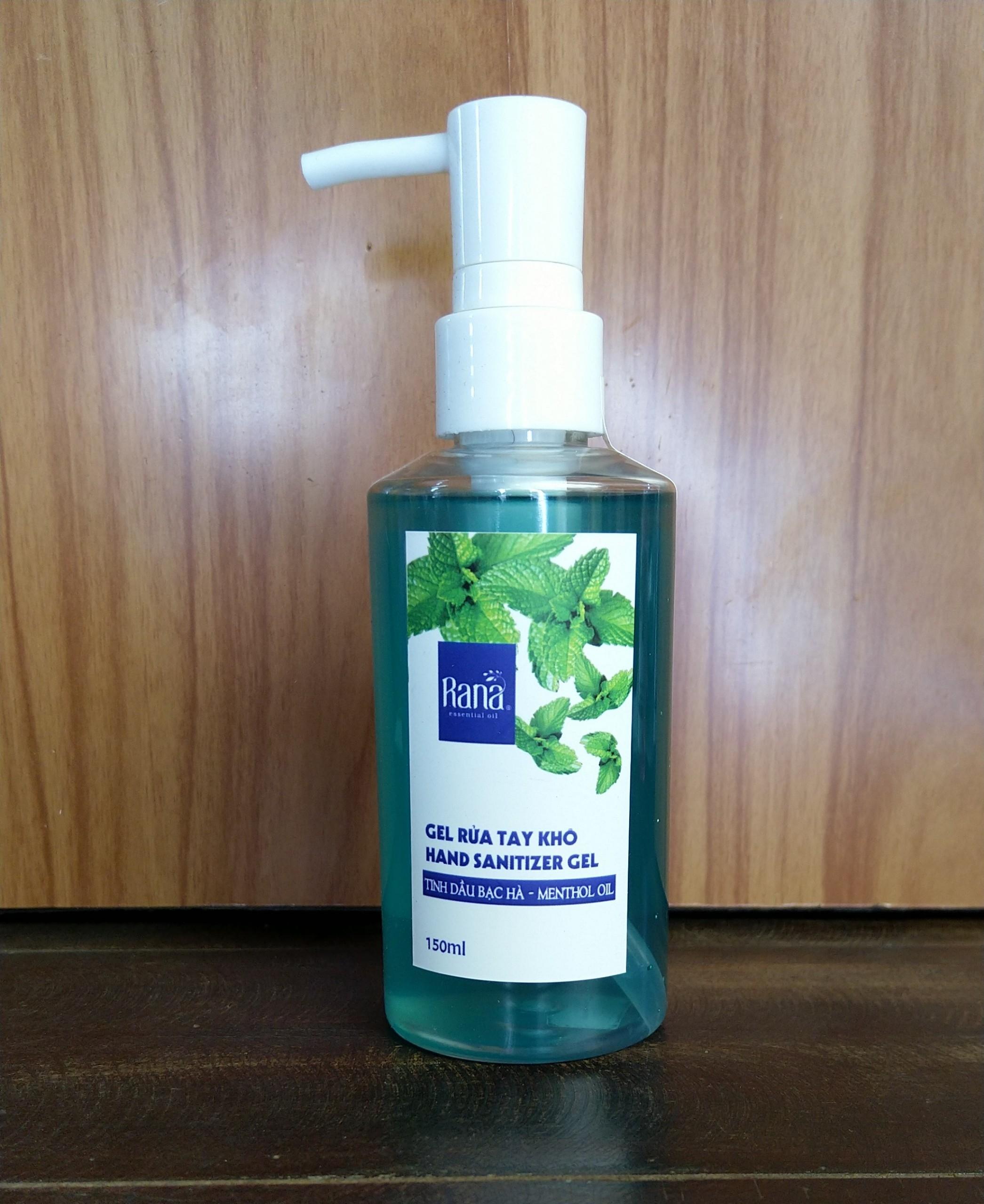 Gel rửa tay khô tinh dầu thiên nhiên Rana 150ml Diệt CORONA COVIS 19