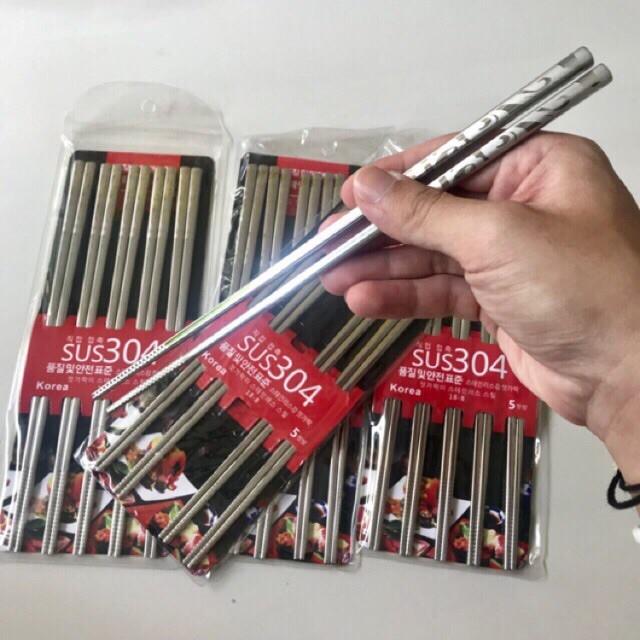 Sét 5 Đôi Đũa Inox SUS 304 Cán Vuông 23.5cm - P549151 | Sàn thương mại điện  tử của khách hàng Viettelpost