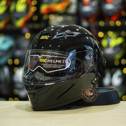 Mũ bảo hiểm Royal M137 Đen Bóng [Size L]