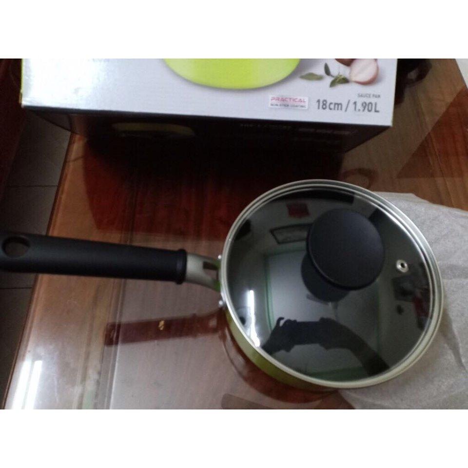 Nồi nhôm đáy từ Beet Okitsumo 18cm LED4181G-IH xanh lá cây