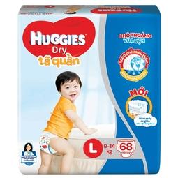 tã quần huggies l68 mẫu mới nhất