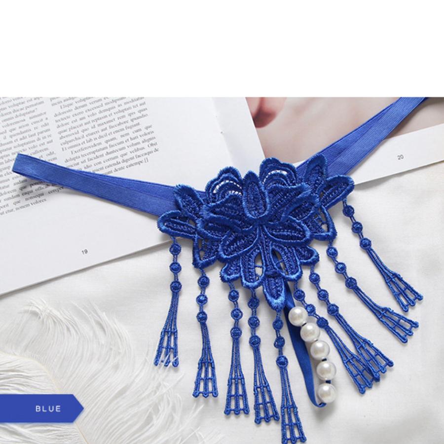 Quần lót nữ đính hạt - Màu xanh biển
