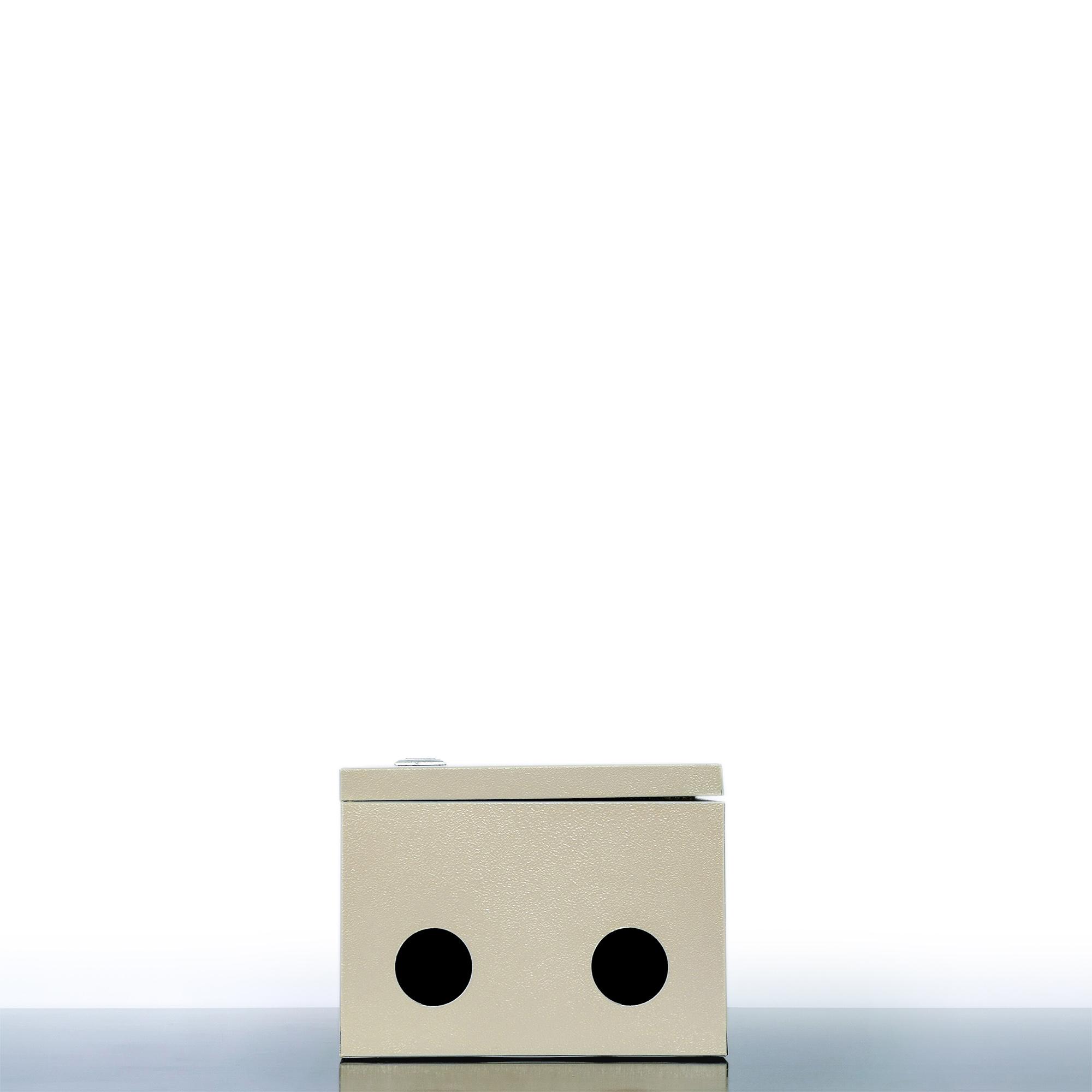 VỎ TỦ ĐIỆN SẮT - MÀU KEM (20x30x16 cm)