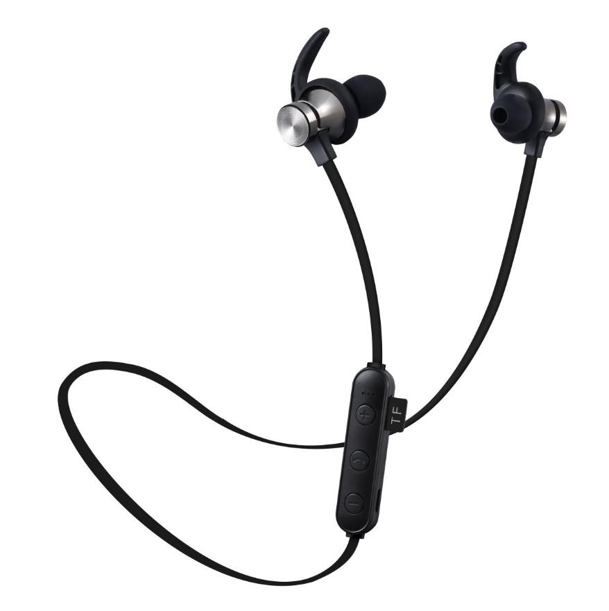 [Hot 2019 tặng 4 mũ tai] Tai nghe Bluetooth thể thao chống nước XT-22 tích hợp nam châm và khe cắm thẻ nhớ, tai nghe không dây có mic, siêu trầm extra bass, tai nghe Bluetooth 4.1 cao cấp dùng cho điện thoại Iphone, Samsung, sony, xiaomi [GINKA]