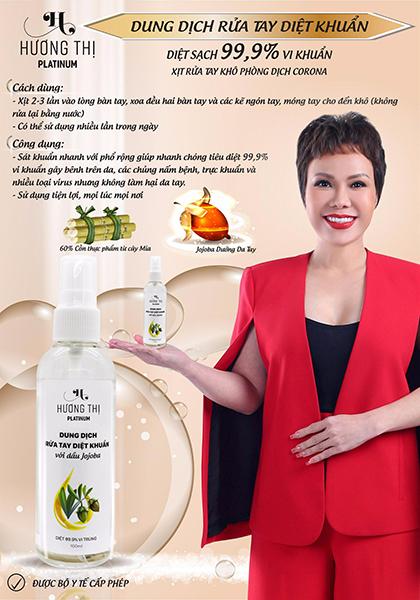 Rửa tay khô diệt khuẩn với dầu Jojoba Hương Thị  100ml - Combo 2 chai