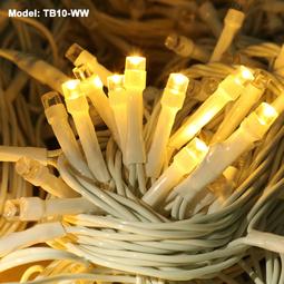 Đèn Nháy 10m - Vàng Nắng - Dây Điện màu TRẮNG – không chớp nháy - Thế Giới Đèn Nháy