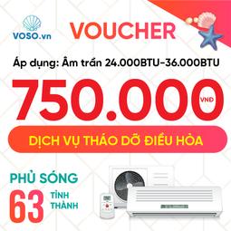 Voucher tháo dỡ điều hòa âm trần nối ống gió - máy tủ đứng 24.000-36.0000btu