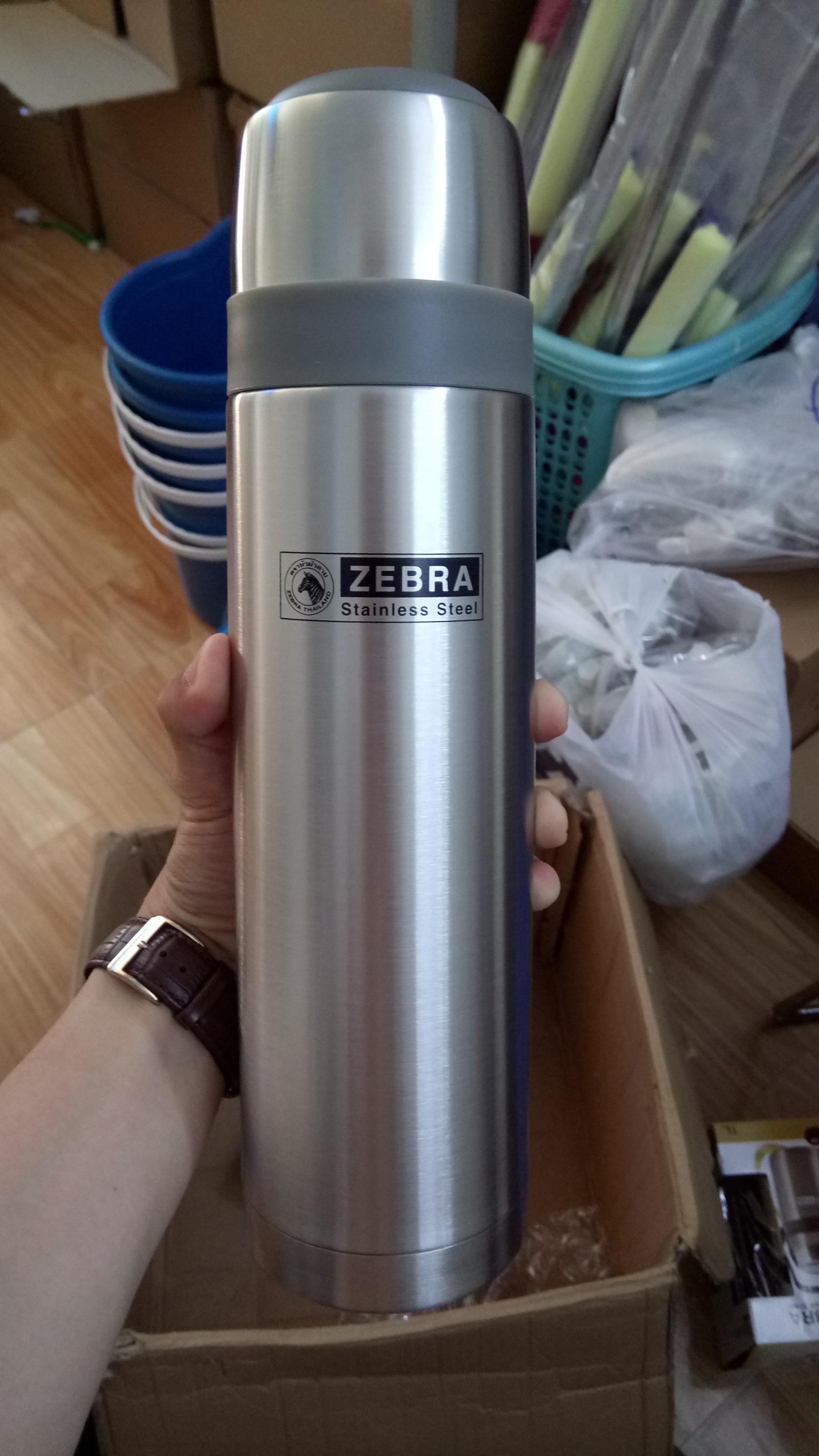 Bình giữ nhiệt Zebra - Inox - 1 lít