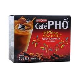 Cà Phê Phố Sữa Đá Maccoffee Hộp 240G (10 Gói x 24g)