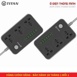 Ổ điện Thông Minh Titan CD01 - 6 Cổng sạc usb 3 cổng cắm - Bảo hành 12 tháng