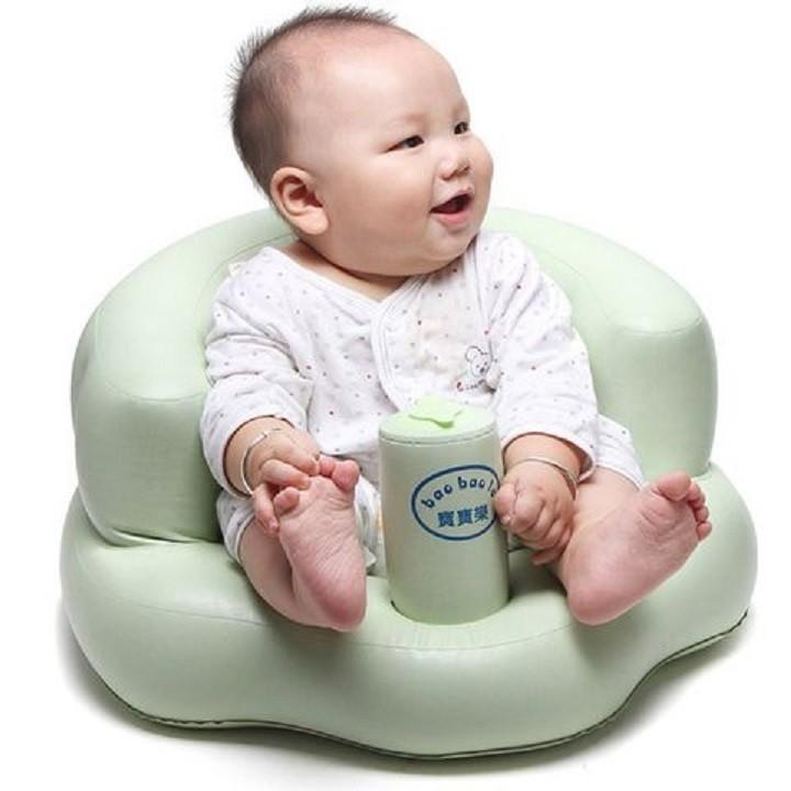 Ghế hơi tập ngồi bơm tay tiện dụng cho bé yêu