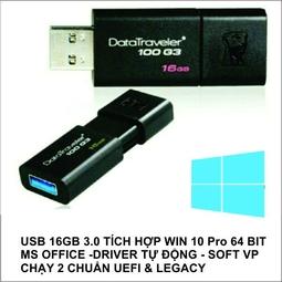 USB 16GB BOOT cài WIN 10 Pro 64 bit (active)