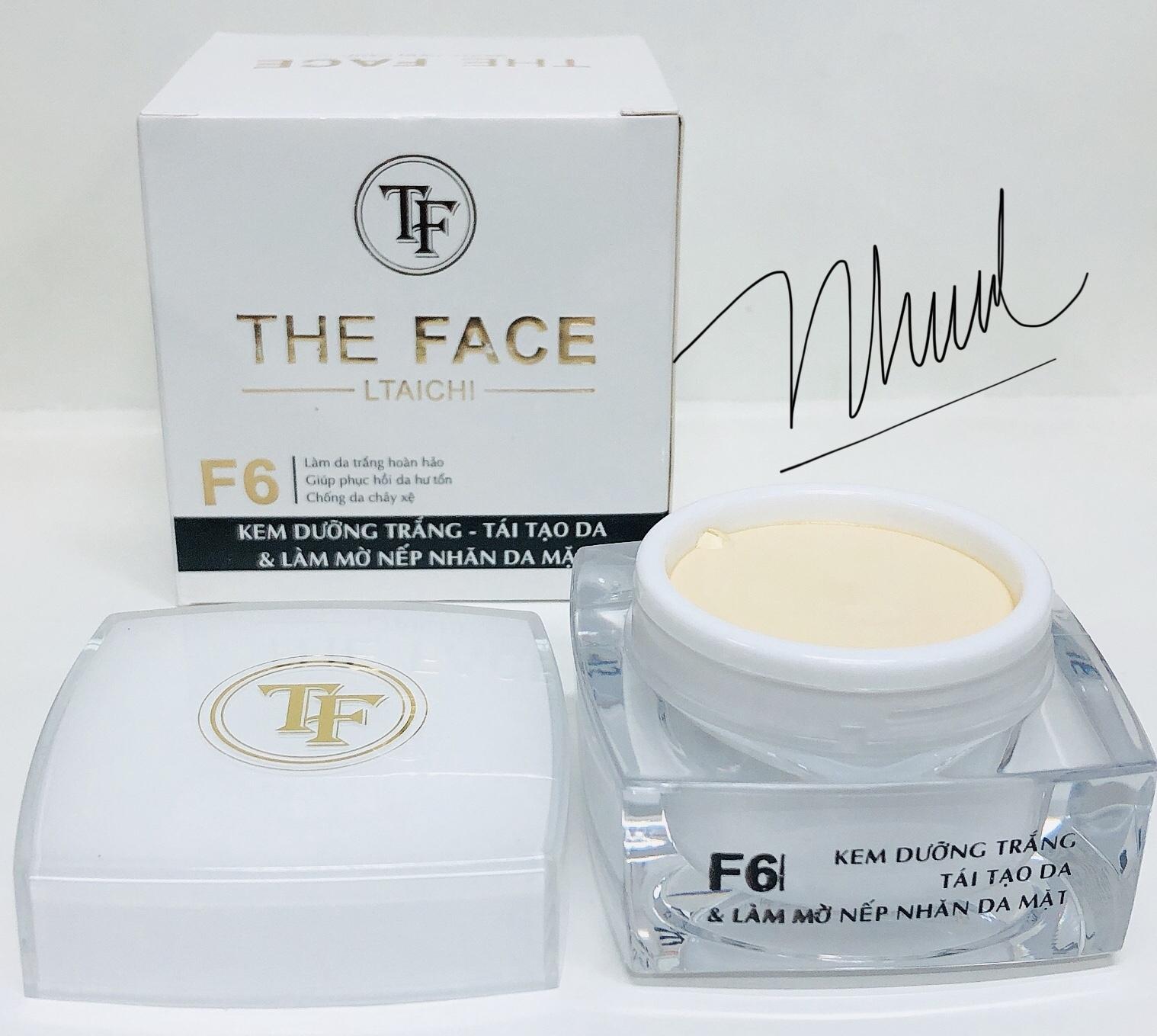 Kem Dưỡng Trắng Da Tái Tạo Da Làm Mờ Nếp Nhăn Da Mặt The Face F6 Loại 25g