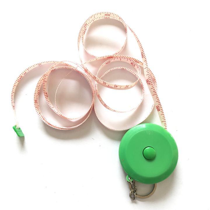 Thước dây mini nhỏ gọn kèm móc khoá, độ dài 1,5m
