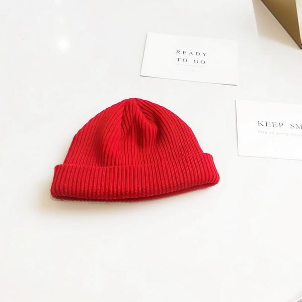Mũ len trùm đầu phong cách Hip Hop NL17, Nón len trơn màu phong cách Hàn Quốc dành cho cả nam và nữ - Màu đỏ
