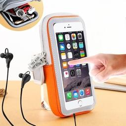 Túi đeo tay chạy bộ, túi đeo tay tiện dụng có ngăn đựng điện thoại, có cổng cắm tai nghe tiện lợi dùng chạy thể thao, đi phượt